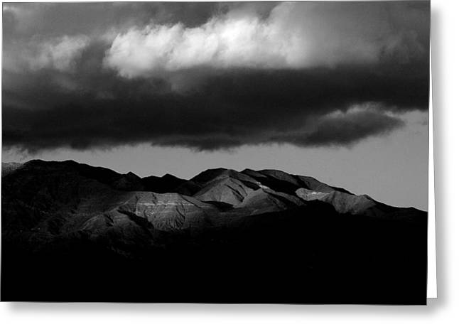 Borrego Clouds Greeting Card by Peter Tellone
