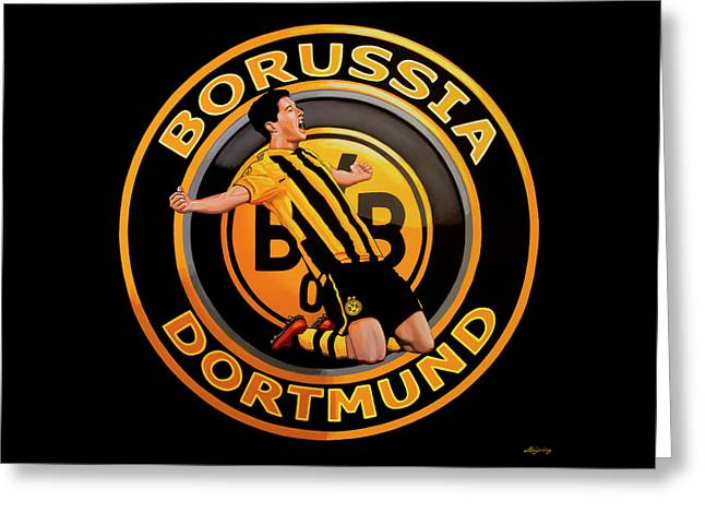 Borussia Dortmund Painting Greeting Card
