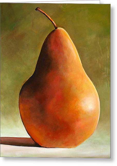 Modern Realism Greeting Cards - Bosc Pear Greeting Card by Toni Grote