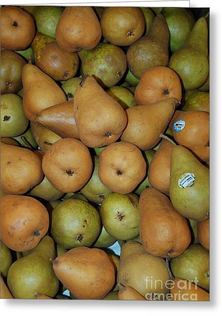 Bosch Pears Greeting Card by Mia Alexander