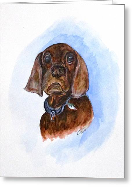 Bosely The Dog Greeting Card