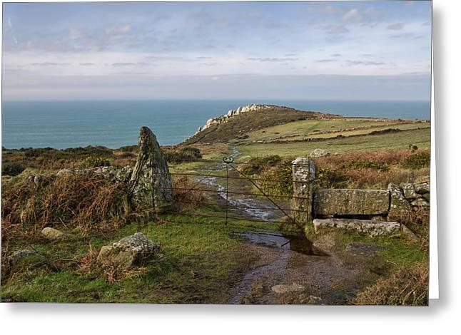 Bosigran In North Cornwall Greeting Card by Pete Hemington