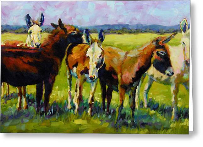 Greeting Card featuring the painting Bosom Buddies by Chris Brandley