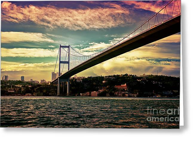 Bosphorous Bridge Greeting Card by Nilay Tailor