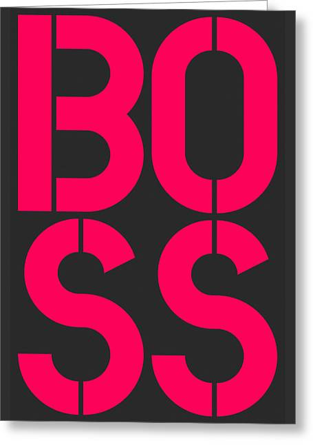 Boss-2 Greeting Card