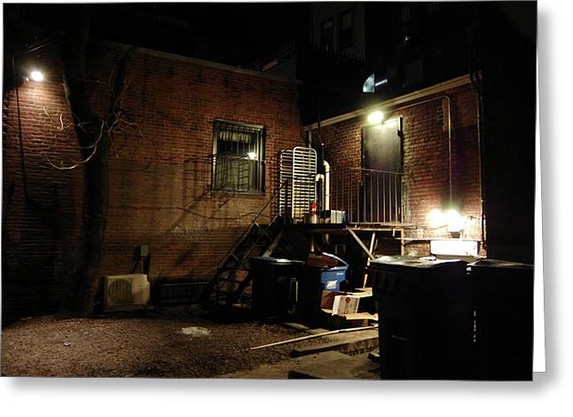 Boston Alley Greeting Card by Steven W Rand