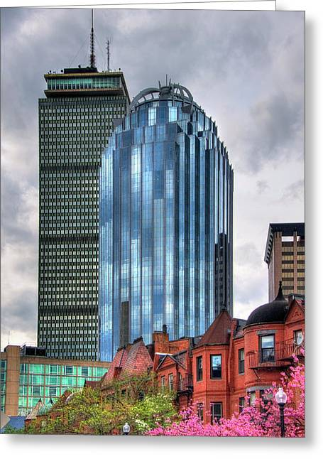 Boston Architecture And South End Brownstones Greeting Card by Joann Vitali
