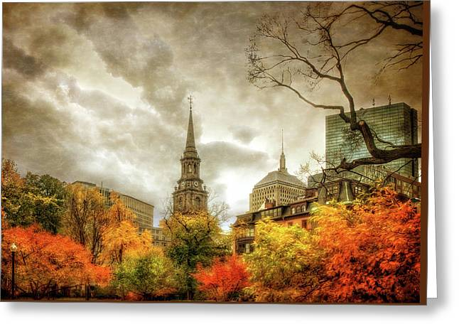 Boston Autumn Splendor Greeting Card by Joann Vitali