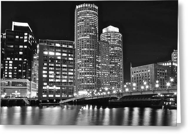Boston Black And White Greeting Card by Frozen in Time Fine Art Photography