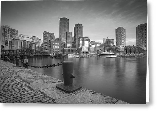 Boston Black And White Greeting Card