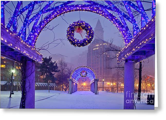 Boston Blue Christmas Greeting Card