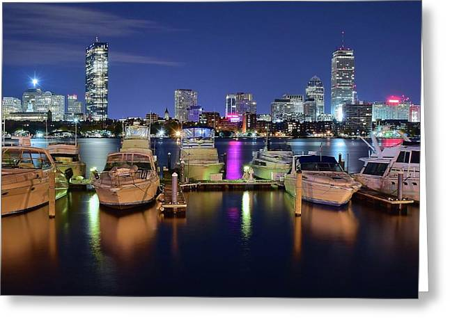 Boston Boats Greeting Card by Frozen in Time Fine Art Photography