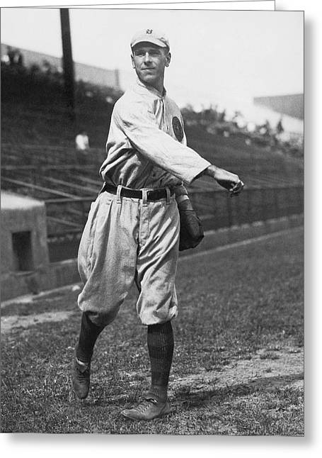 Boston Braves' Fred Snodgrass Greeting Card by Underwood Archives