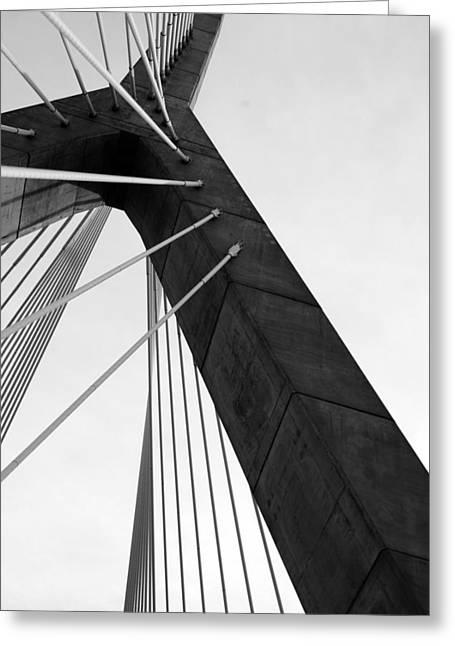 Boston Bridge  Greeting Card by Maria Lopez