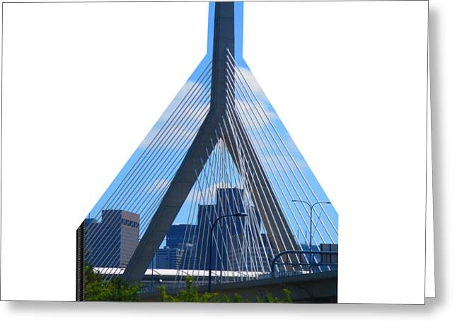 Boston Bridges So Beautiful A Photograph Can Give You All The Time To Enjoy The Moment Greeting Card by Navin Joshi