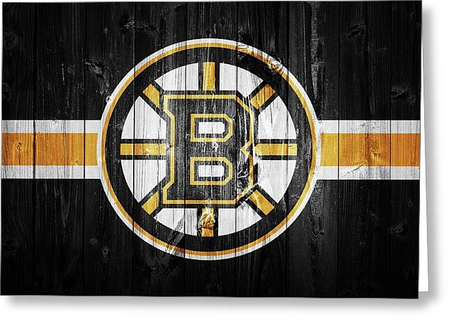 Boston Bruins Barn Door Greeting Card
