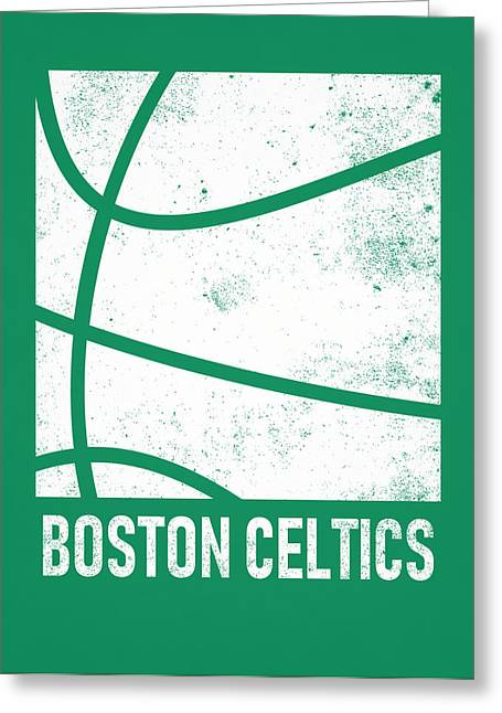 Boston Celtics City Poster Art 2 Greeting Card