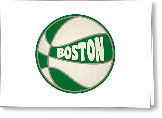 Boston Celtics Retro Shirt Greeting Card by Joe Hamilton