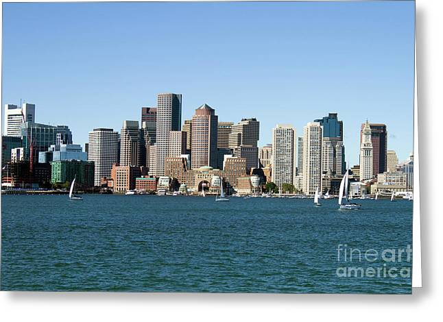 Boston City Skyline Greeting Card