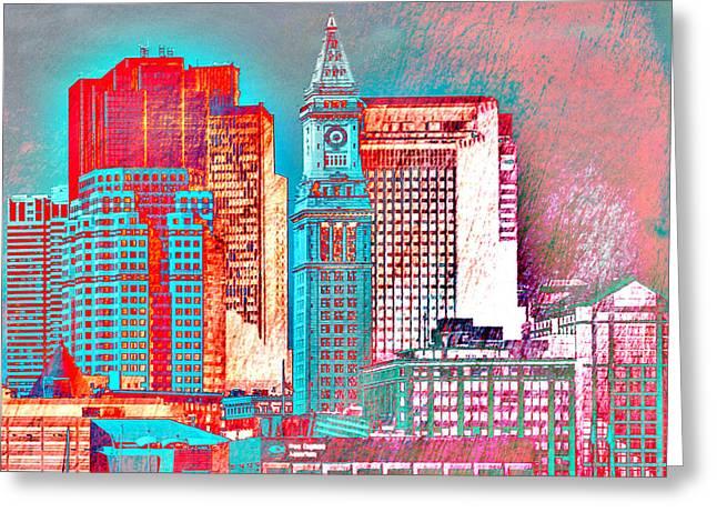 Boston Clock Tower V2 Greeting Card by Brandi Fitzgerald