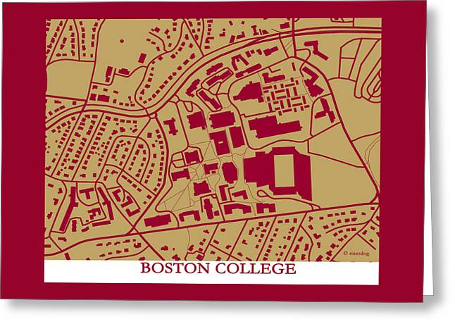 Boston College Campus Greeting Card by Spencer Hall
