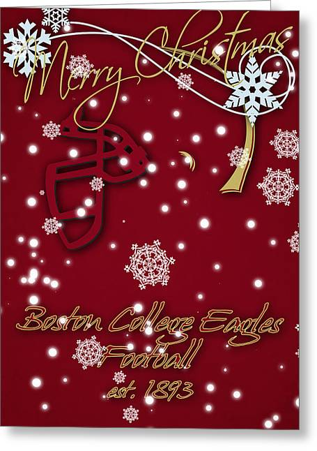Boston College Eagles Christmas Card Greeting Card
