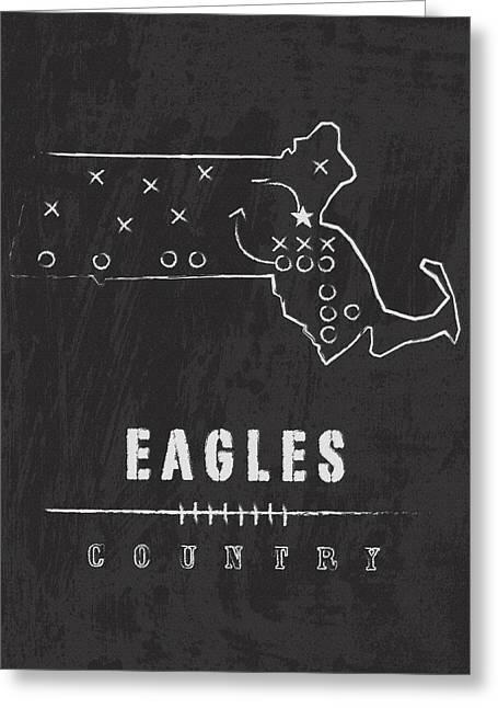 Boston College Eagles / Ncaa College Football Art / Chestnut Hill Massachusetts Greeting Card by Damon Gray