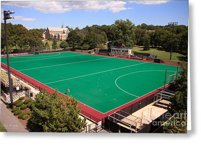 Boston College Field Hockey Greeting Card by Anthony Salerno