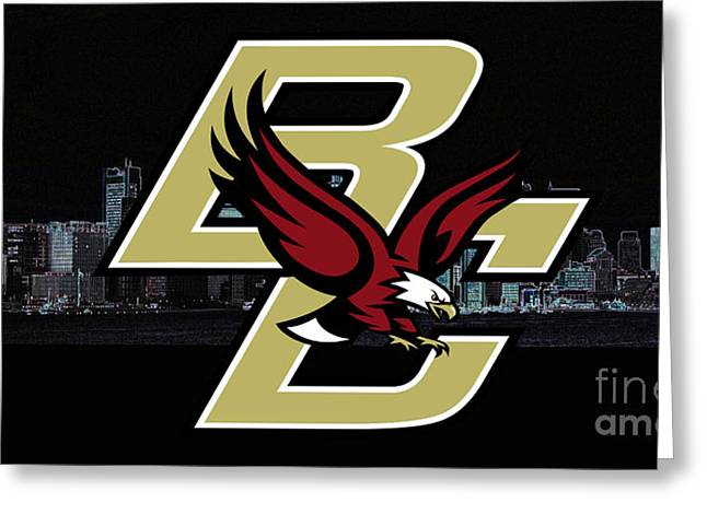 Boston College Greeting Card by Steven Parker