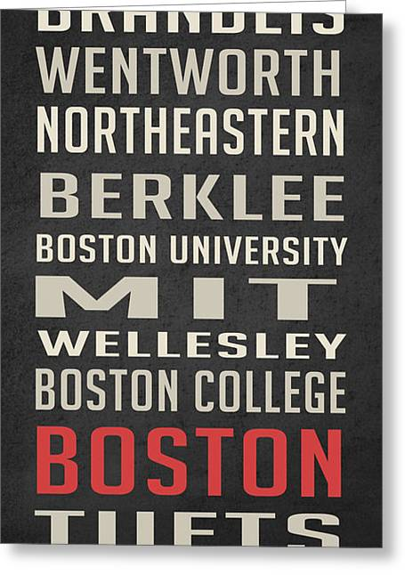 Boston Collegetown Greeting Card