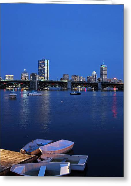 Greeting Card featuring the photograph Boston Dinghies by Juergen Roth