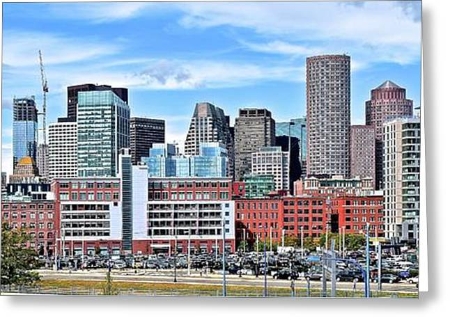 Boston Downtown View Greeting Card by Frozen in Time Fine Art Photography