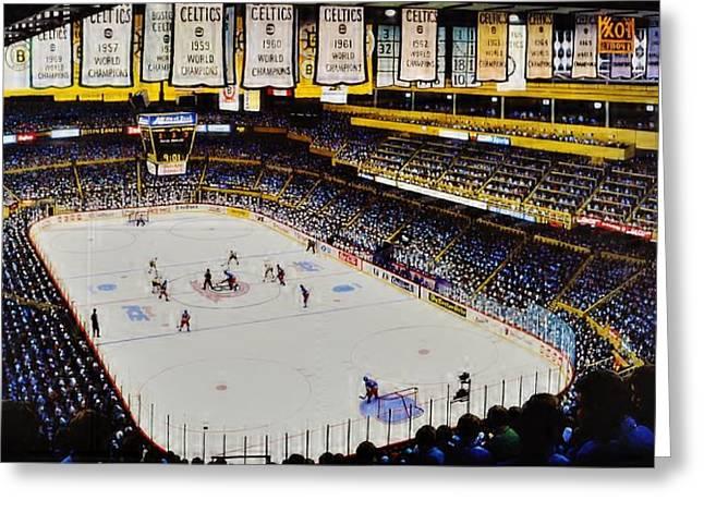Boston Garden Ice Greeting Card by T Kolendera