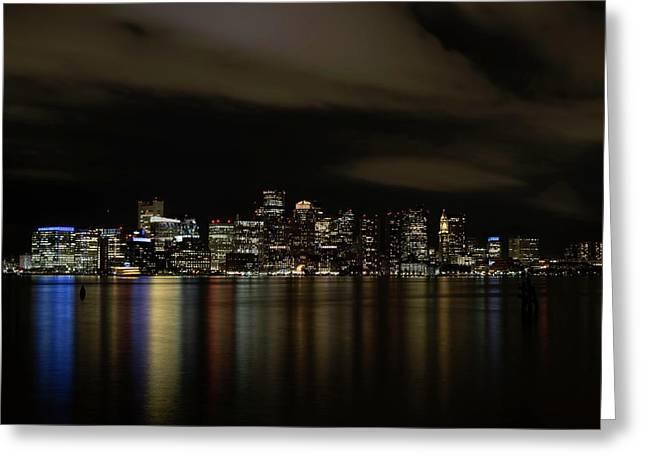 Boston Harbor Skyline Greeting Card