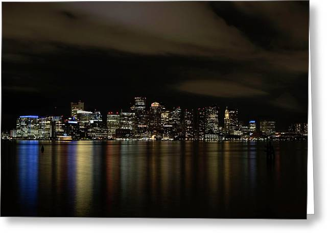 Boston Harbor Skyline Greeting Card
