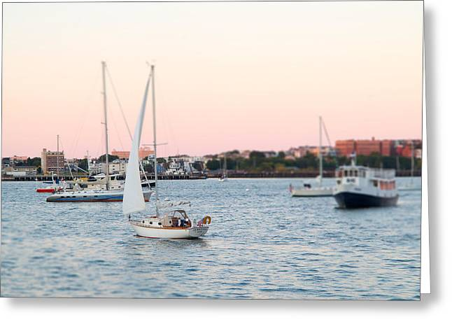 Boston Harbor View Greeting Card
