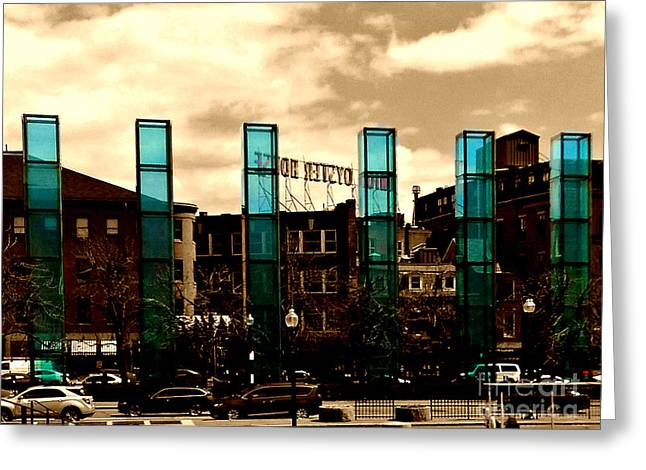 New England Holocaust Memorial, Boston, Massachustts Greeting Card