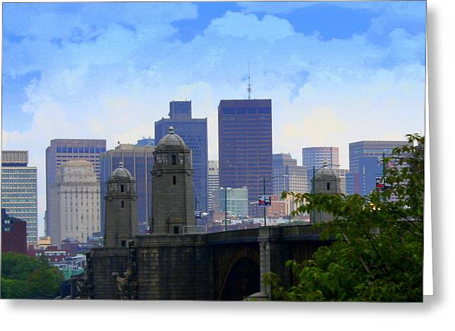 Boston  Greeting Card by Julie Lueders