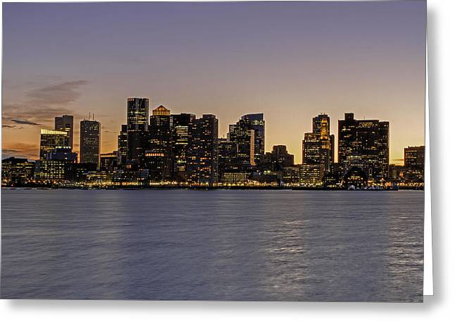 Greeting Card featuring the photograph Boston Last Night Sunset by Juergen Roth