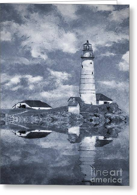 Greeting Card featuring the photograph Boston Light  by Ian Mitchell