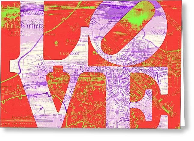 Boston Love V4 Greeting Card by Brandi Fitzgerald