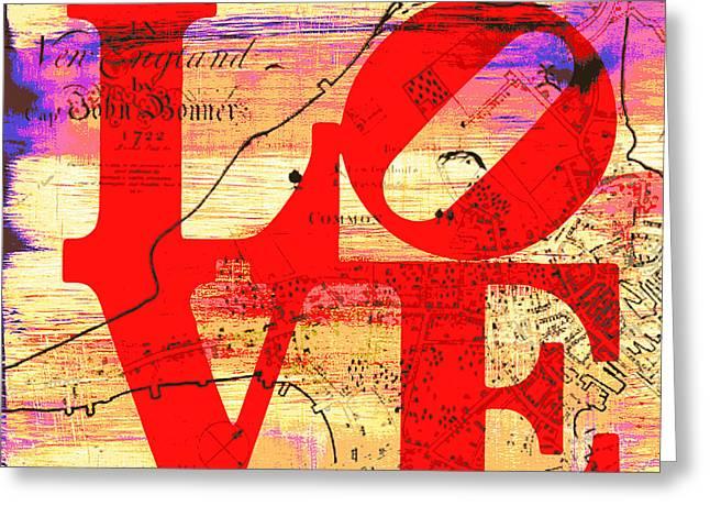 Boston Love V5 Greeting Card by Brandi Fitzgerald