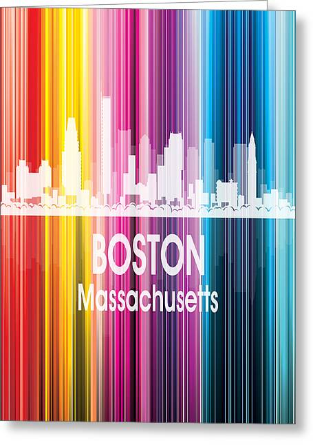 Boston Ma 2 Vertical Greeting Card by Angelina Vick