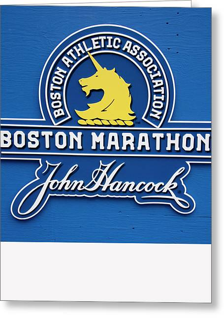 Greeting Card featuring the photograph Boston Marathon - Boston Athletic Association by Joann Vitali