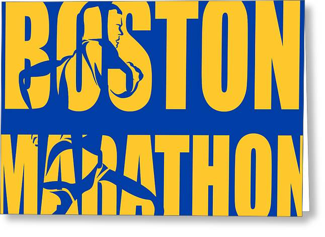 Boston Marathon Greeting Card by Joe Hamilton