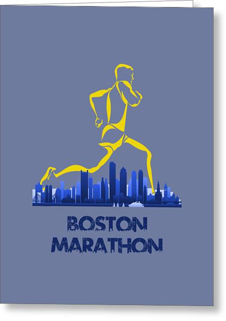 Boston Marathon5 Greeting Card by Joe Hamilton