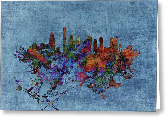 Boston, Massachusetts Cityscape 1b Greeting Card