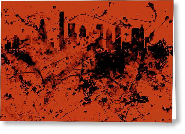 Boston, Massachusetts Cityscape  1c Greeting Card