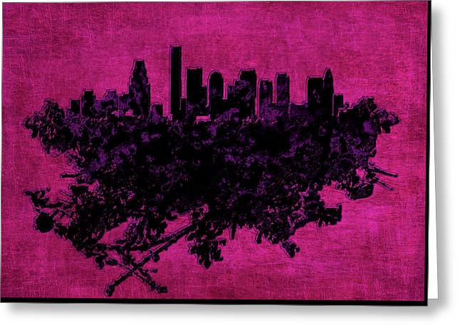 Boston Massachusetts Cityscape 1d Greeting Card by Brian Reaves