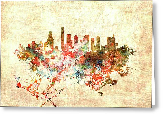 Boston Massachusetts Cityscape 1f Greeting Card by Brian Reaves